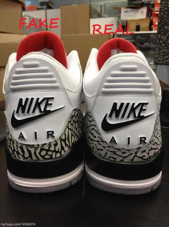 648651533d0d Supposedly it details the difference between a real Nike Air Jordan Retro  ...